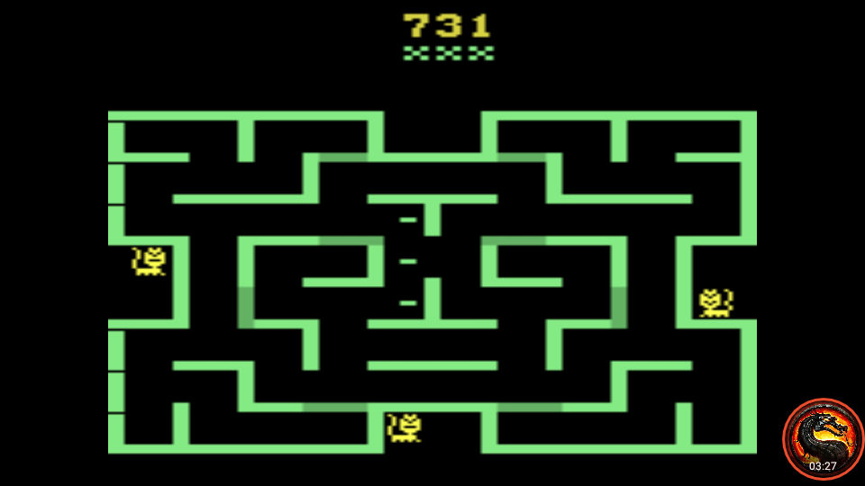 omargeddon: Mouse Trap [Difficulty Switches: A/B] (Atari 2600 Emulated) 731 points on 2020-04-02 14:53:45