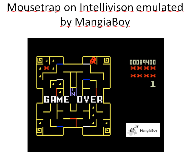 MangiaBoy: Mouse Trap: Skill 1 (Intellivision Emulated) 89,400 points on 2016-01-03 10:15:18