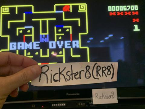 Rickster8: Mouse Trap: Skill 4 (Intellivision Emulated) 6,700 points on 2020-10-10 22:22:51
