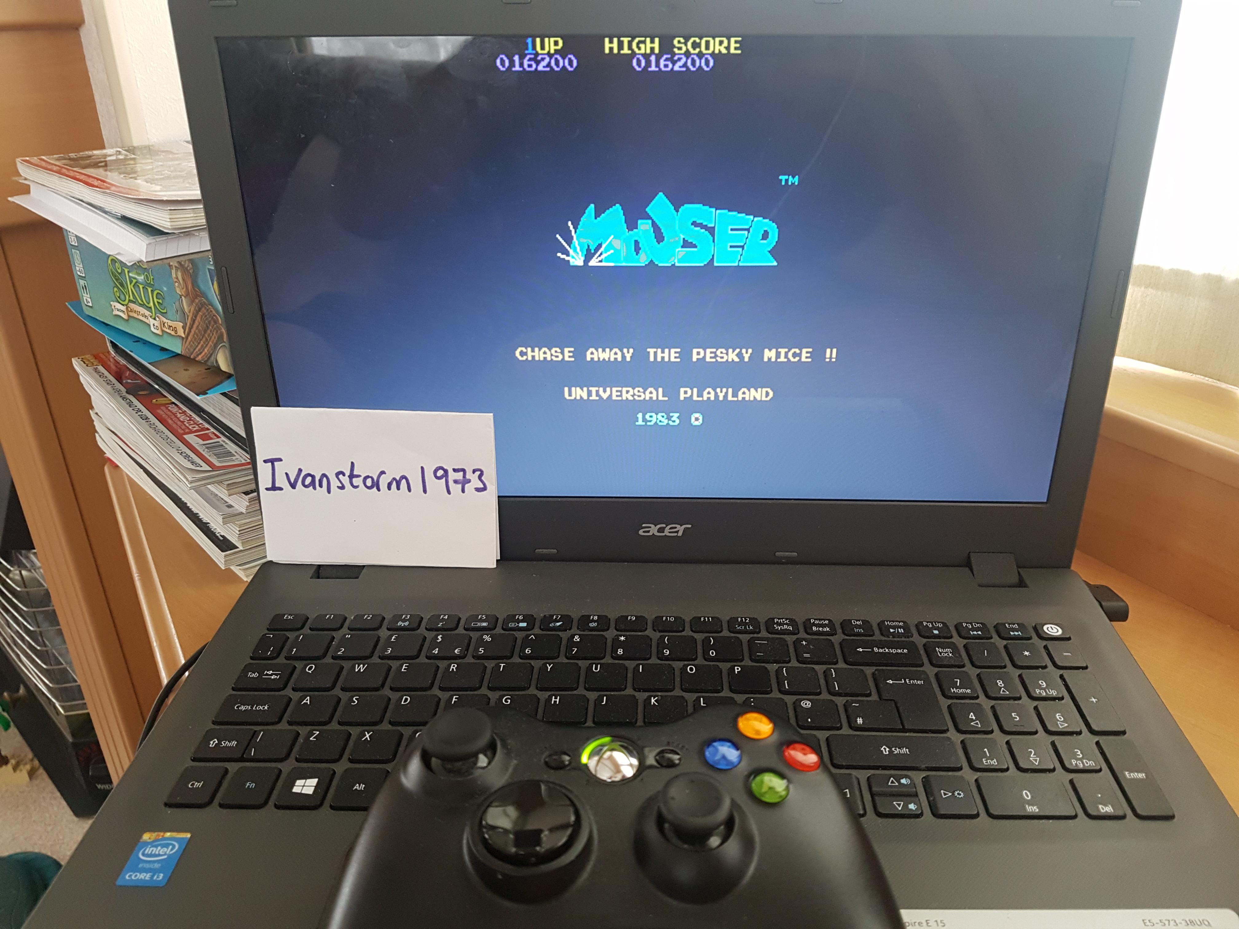 Ivanstorm1973: Mouser [mouser] (Arcade Emulated / M.A.M.E.) 16,200 points on 2017-07-25 05:14:49