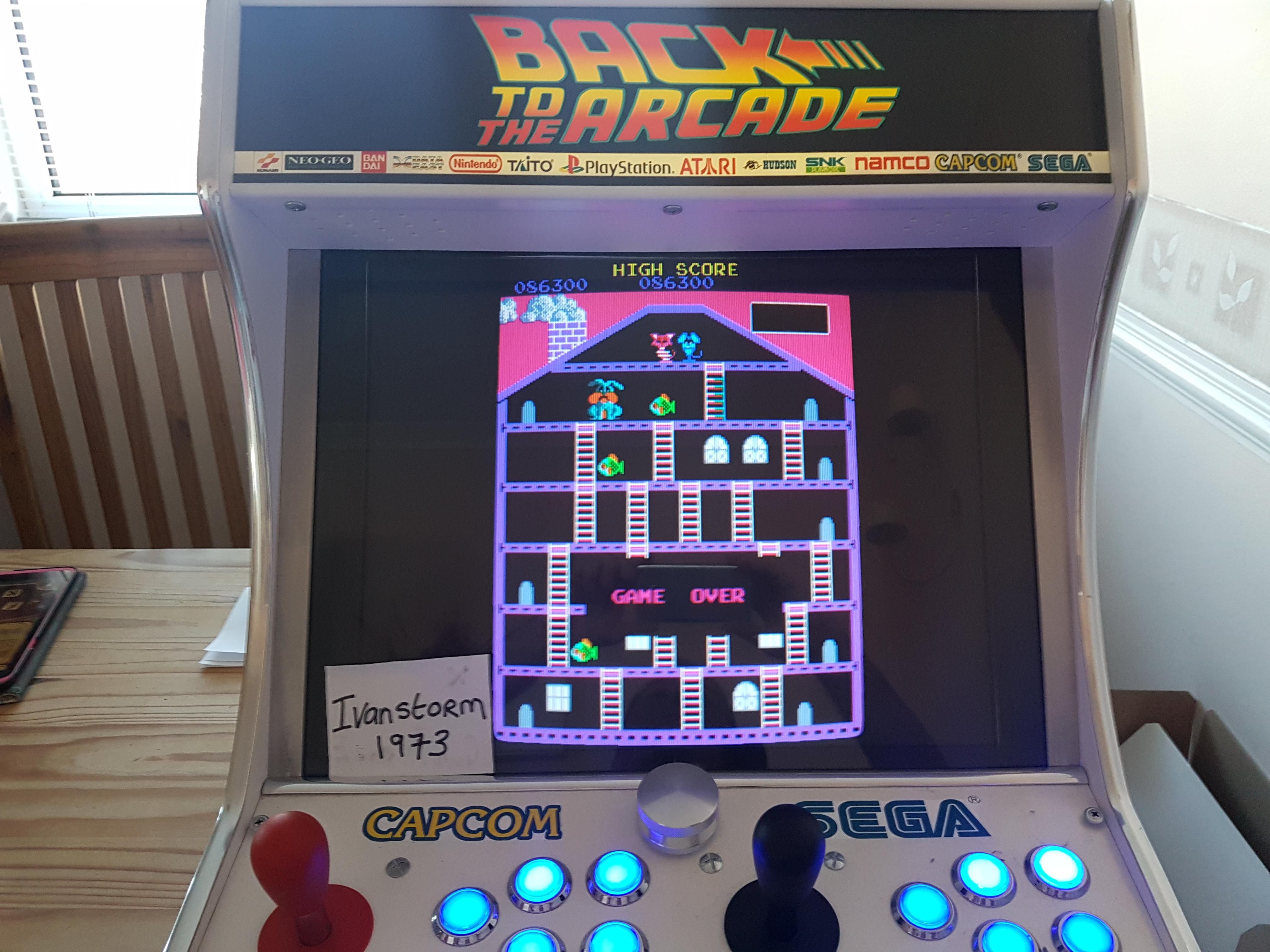 Ivanstorm1973: Mouser [mouser] (Arcade Emulated / M.A.M.E.) 86,300 points on 2018-02-01 07:01:05