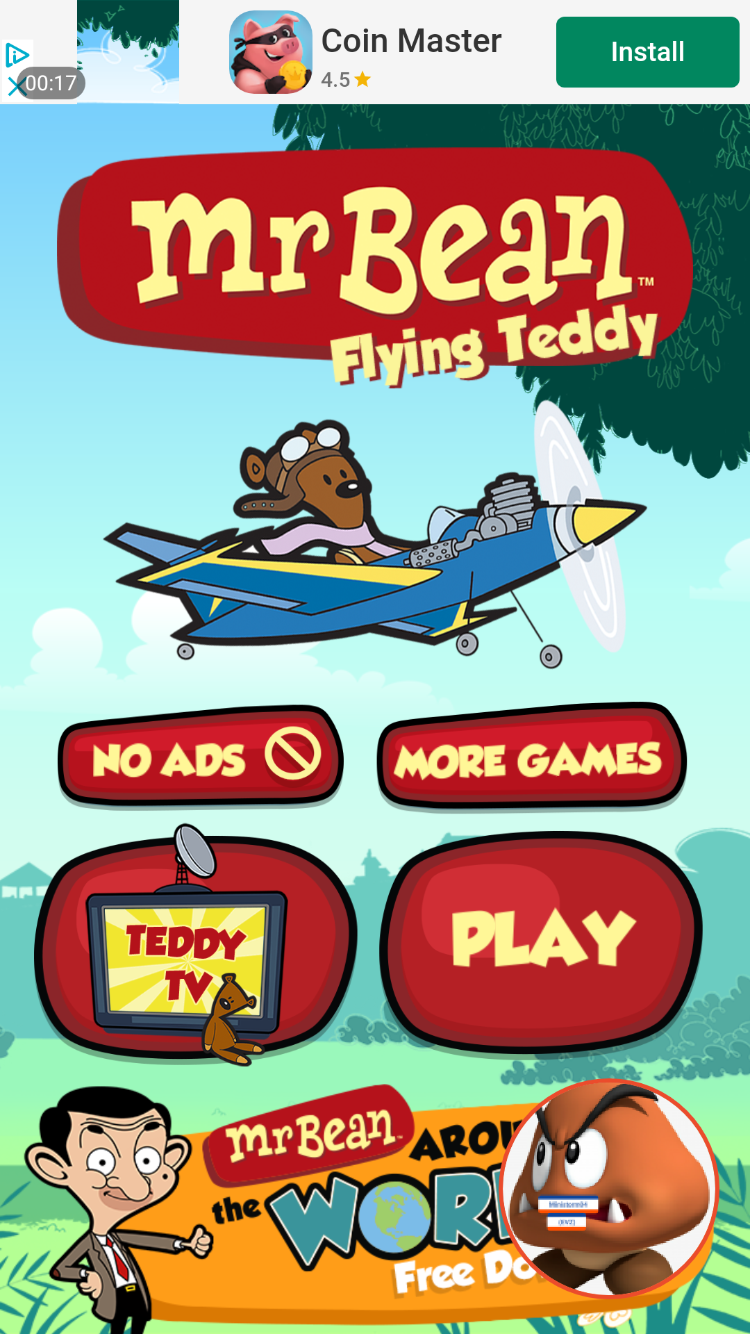 ministorm04: Mr. Bean Flying Teddy (Android) 12 points on 2019-06-04 14:38:14