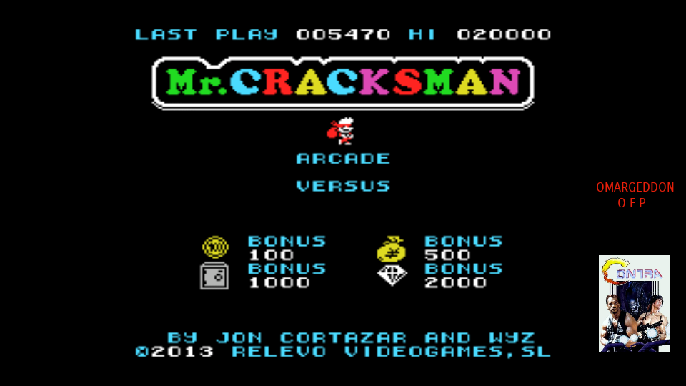 omargeddon: Mr. Cracksman (Arcade) (MSX Emulated) 5,470 points on 2017-09-01 16:35:32