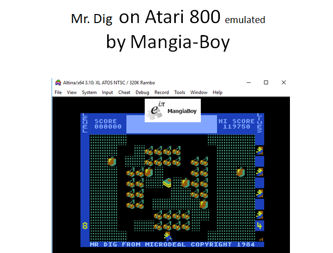MangiaBoy: Mr. Dig [Baby] (Atari 400/800/XL/XE Emulated) 119,750 points on 2018-12-30 07:09:29