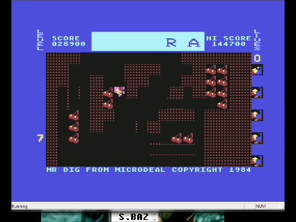 S.BAZ: Mr. Dig: Hard (Commodore 64 Emulated) 28,900 points on 2016-05-30 02:56:06