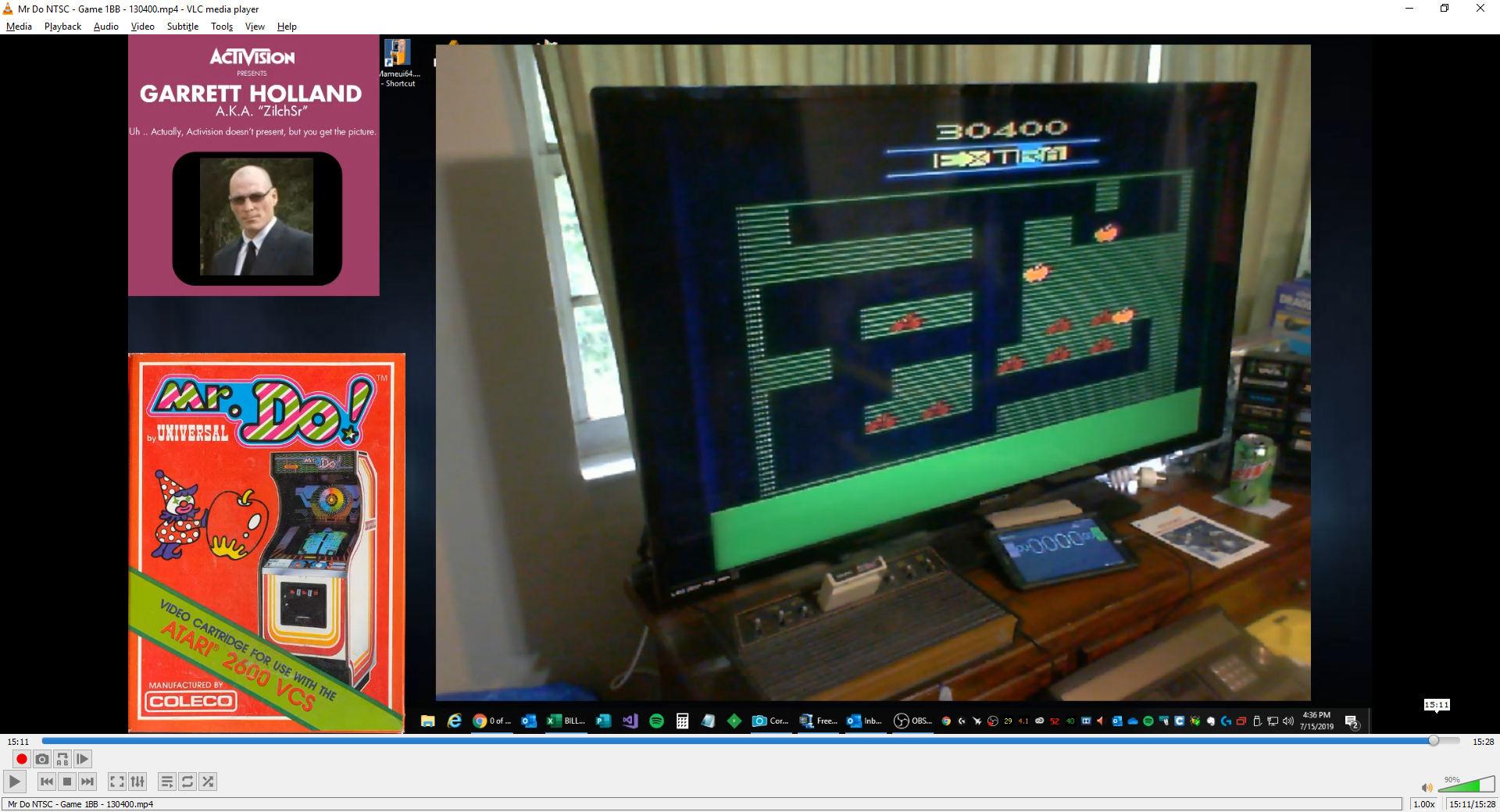 ZilchSr: Mr. Do! (Atari 2600) 130,400 points on 2019-08-08 20:52:09