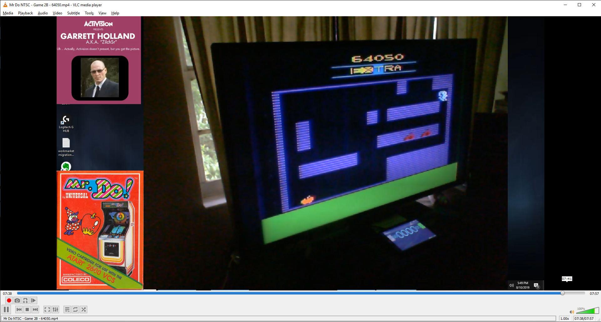 ZilchSr: Mr. Do!: Game 2 (Atari 2600) 64,050 points on 2019-08-10 16:54:56