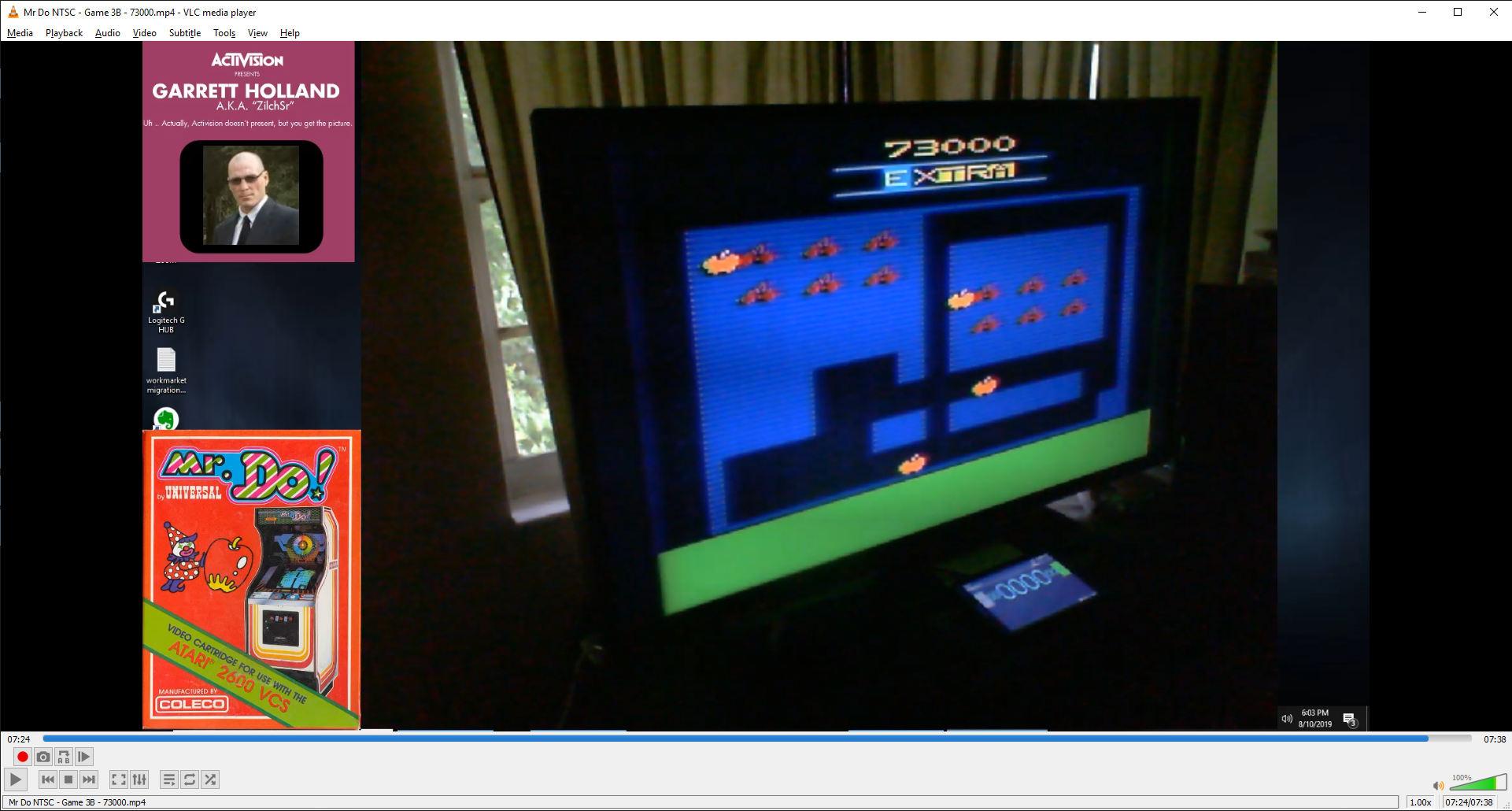 ZilchSr: Mr. Do!: Game 3 (Atari 2600) 73,000 points on 2019-08-10 17:07:31