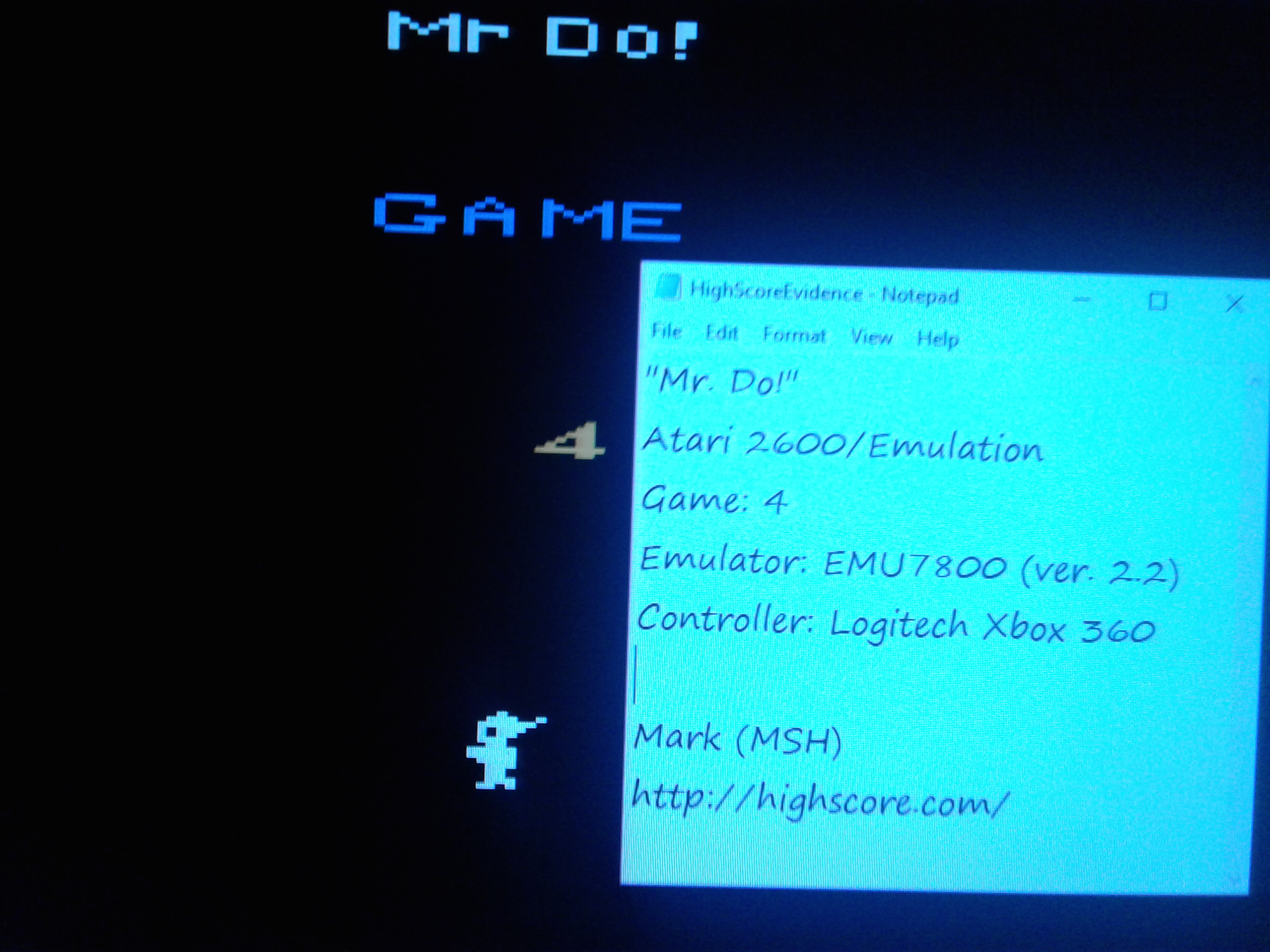 Mark: Mr. Do!: Game 4 (Atari 2600 Emulated) 9,000 points on 2019-02-12 01:16:32