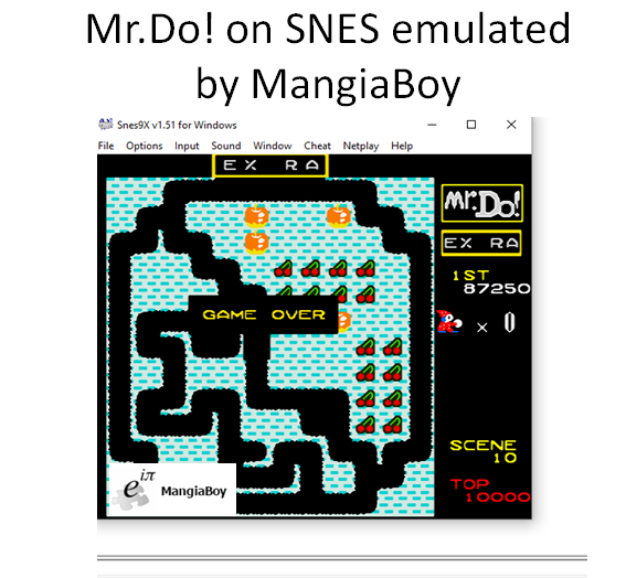 MangiaBoy: Mr. Do! (SNES/Super Famicom Emulated) 87,250 points on 2016-03-20 21:20:42