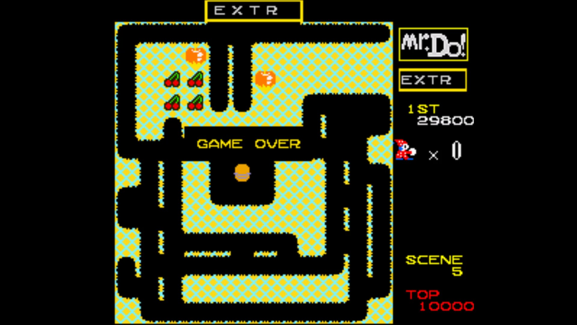 AkinNahtanoj: Mr. Do! (SNES/Super Famicom Emulated) 29,800 points on 2020-08-15 08:53:25