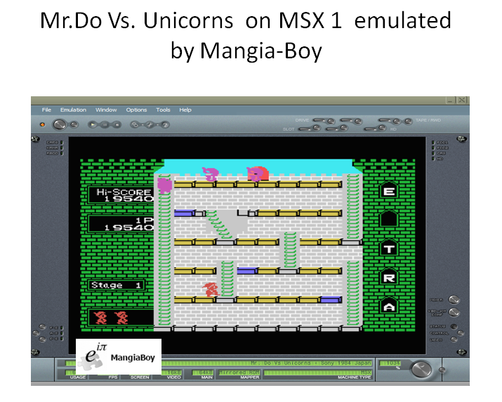 MangiaBoy: Mr. Do Vs. Unicorns (MSX Emulated) 19,540 points on 2017-01-03 19:42:22