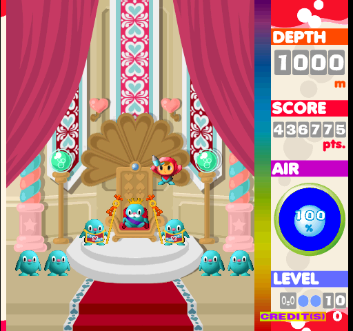 Dumple: Mr. Driller [1000m] (Arcade Emulated / M.A.M.E.) 436,775 points on 2020-02-22 09:09:10