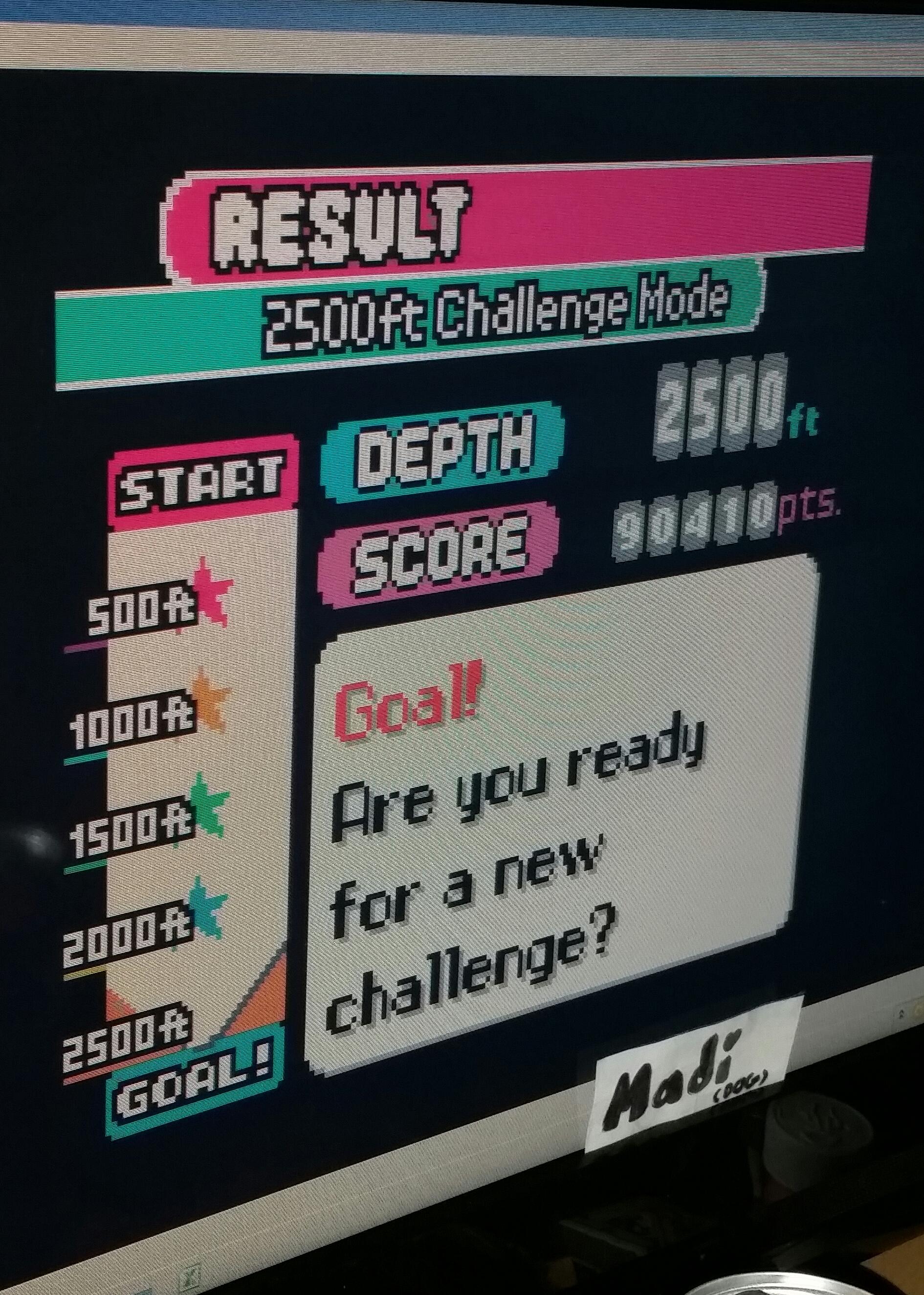madi: Mr. Driller [2500ft] (Game Boy Color Emulated) 90,410 points on 2016-11-12 14:58:59