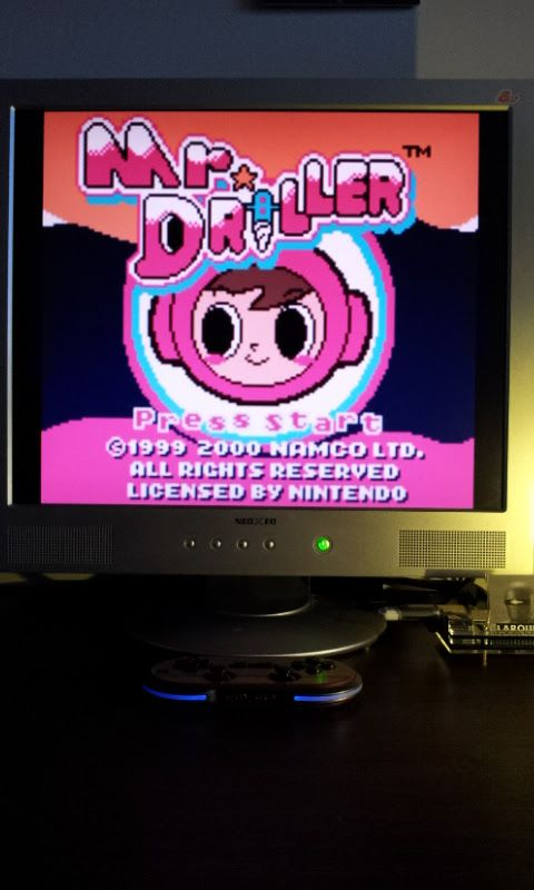 Larquey: Mr. Driller [Endless] (Game Boy Color Emulated) 1,045 points on 2017-04-02 04:43:48