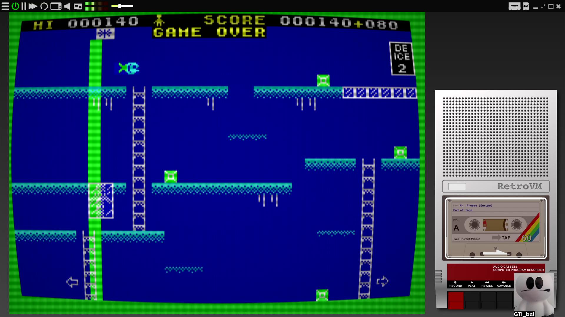 GTibel: Mr. Freeze (ZX Spectrum Emulated) 140 points on 2020-08-04 02:09:27