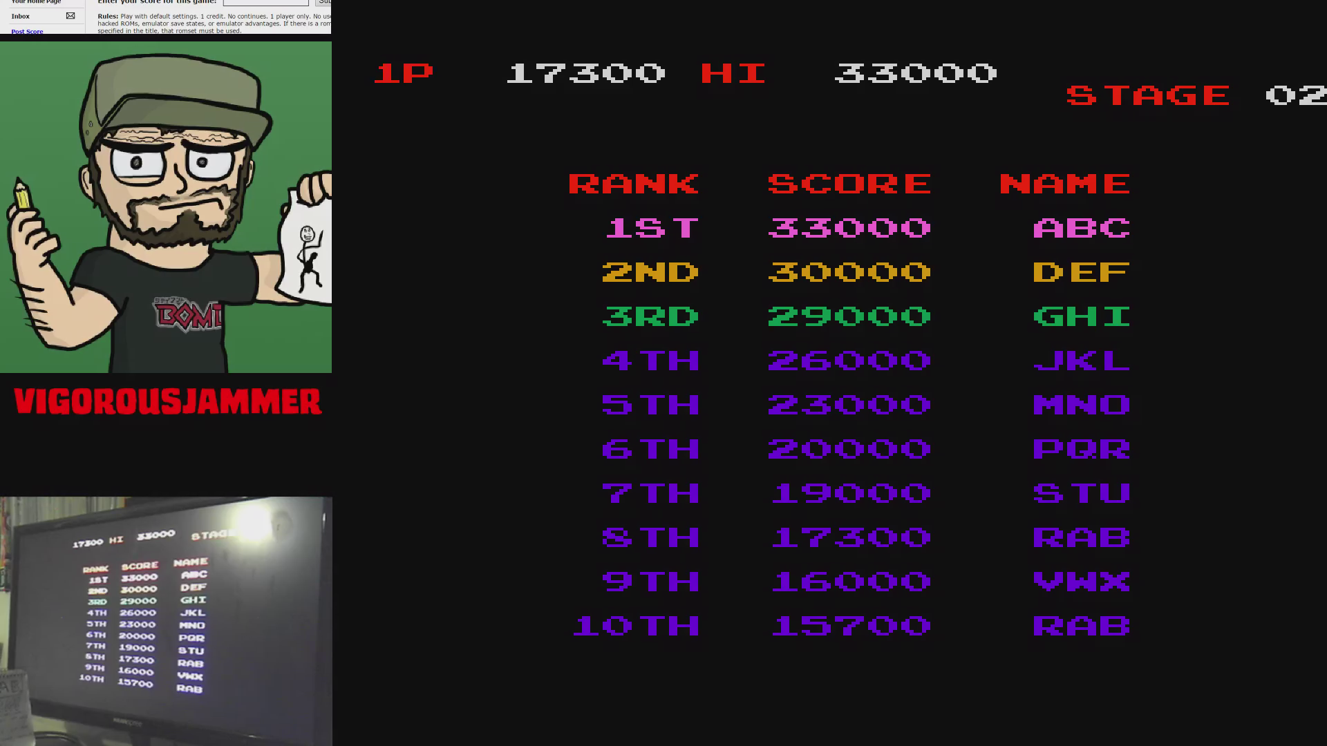 vigorousjammer: Mr. Goemon [mrgoemon] (Arcade Emulated / M.A.M.E.) 17,300 points on 2015-09-09 00:05:01
