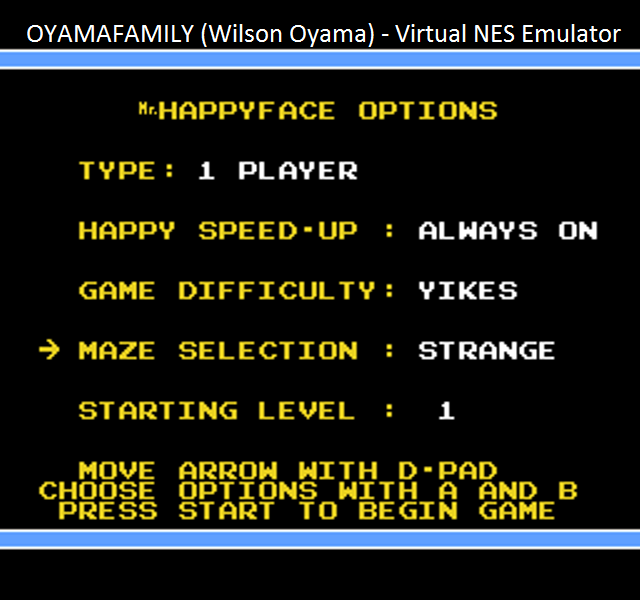 oyamafamily: Mr. Happy Face [On/Yikes/Strange] (NES/Famicom Emulated) 39,190 points on 2016-01-16 09:42:16