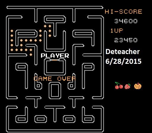 Deteacher: Mr. Pac-Man [Hard] (NES/Famicom Emulated) 23,450 points on 2015-06-28 16:00:13