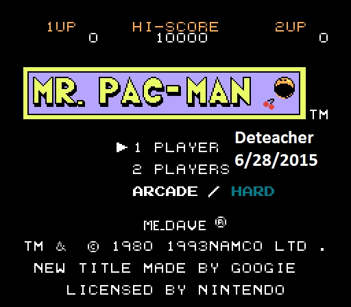 Deteacher: Mr. Pac-Man (NES/Famicom Emulated) 34,600 points on 2015-06-28 15:59:16