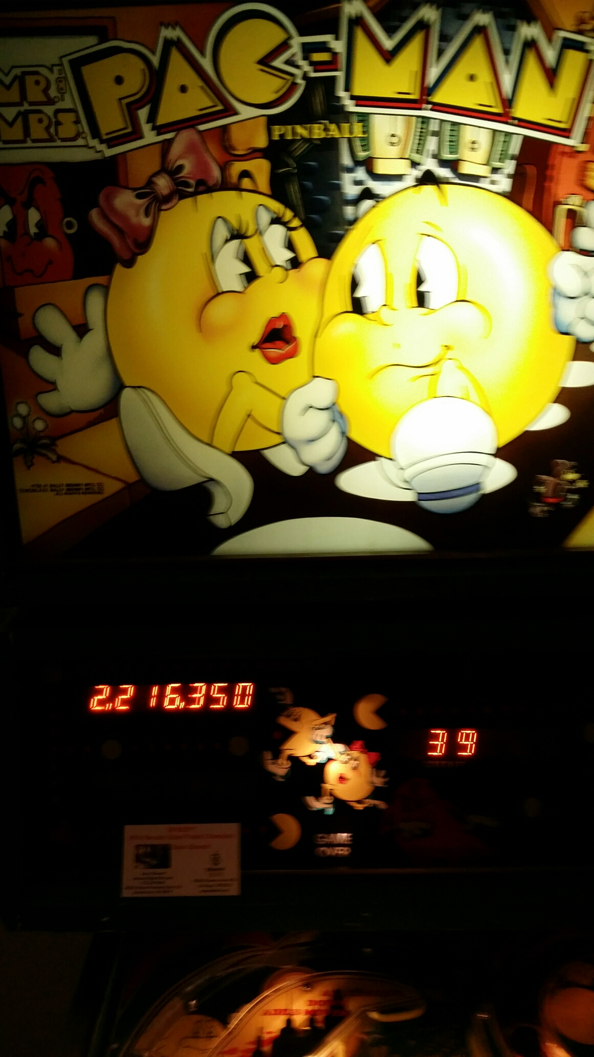 Mr. & Mrs. Pac-Man 2,216,350 points