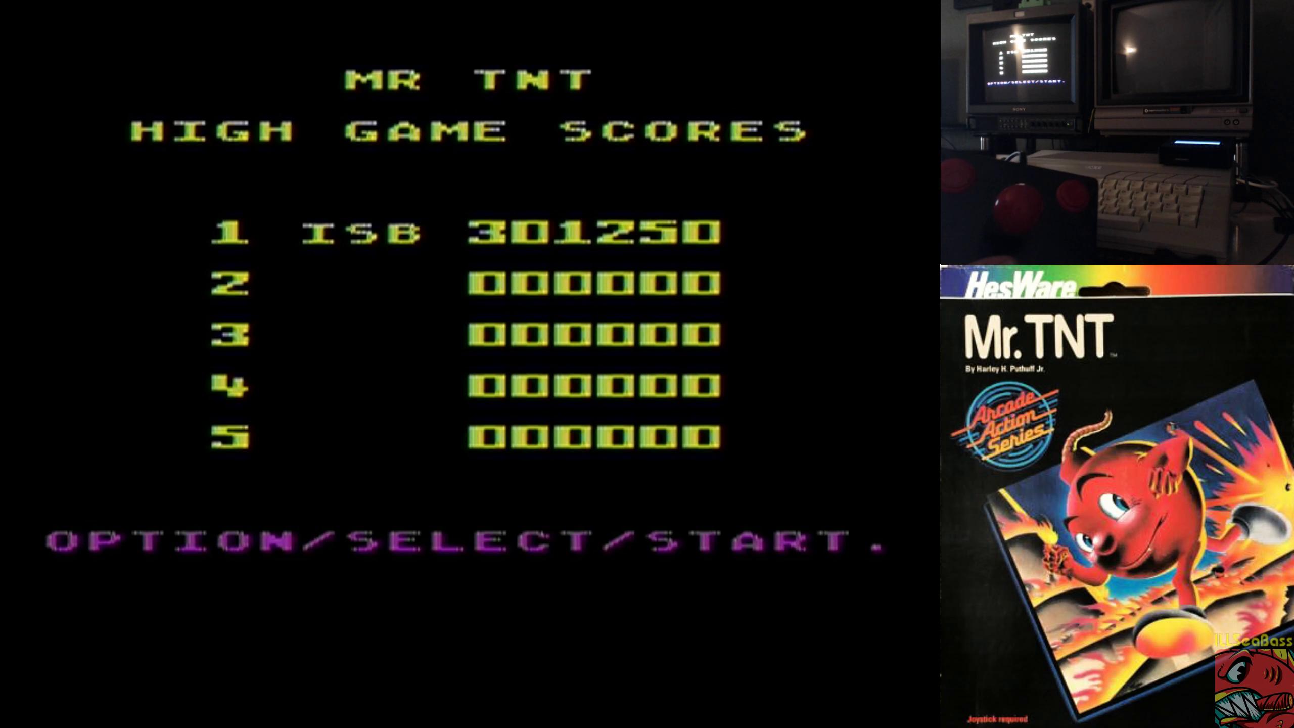 ILLSeaBass: Mr. TNT (Atari 400/800/XL/XE) 301,250 points on 2019-10-03 00:03:57
