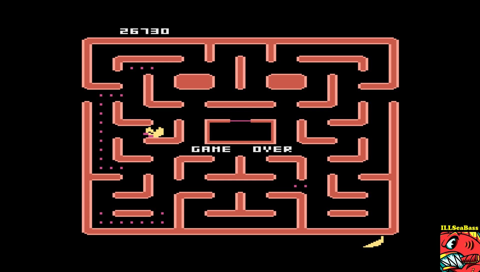 ILLSeaBass: Ms. Pac-Man [Apple Start] (Atari 400/800/XL/XE Emulated) 26,370 points on 2017-02-05 19:38:27