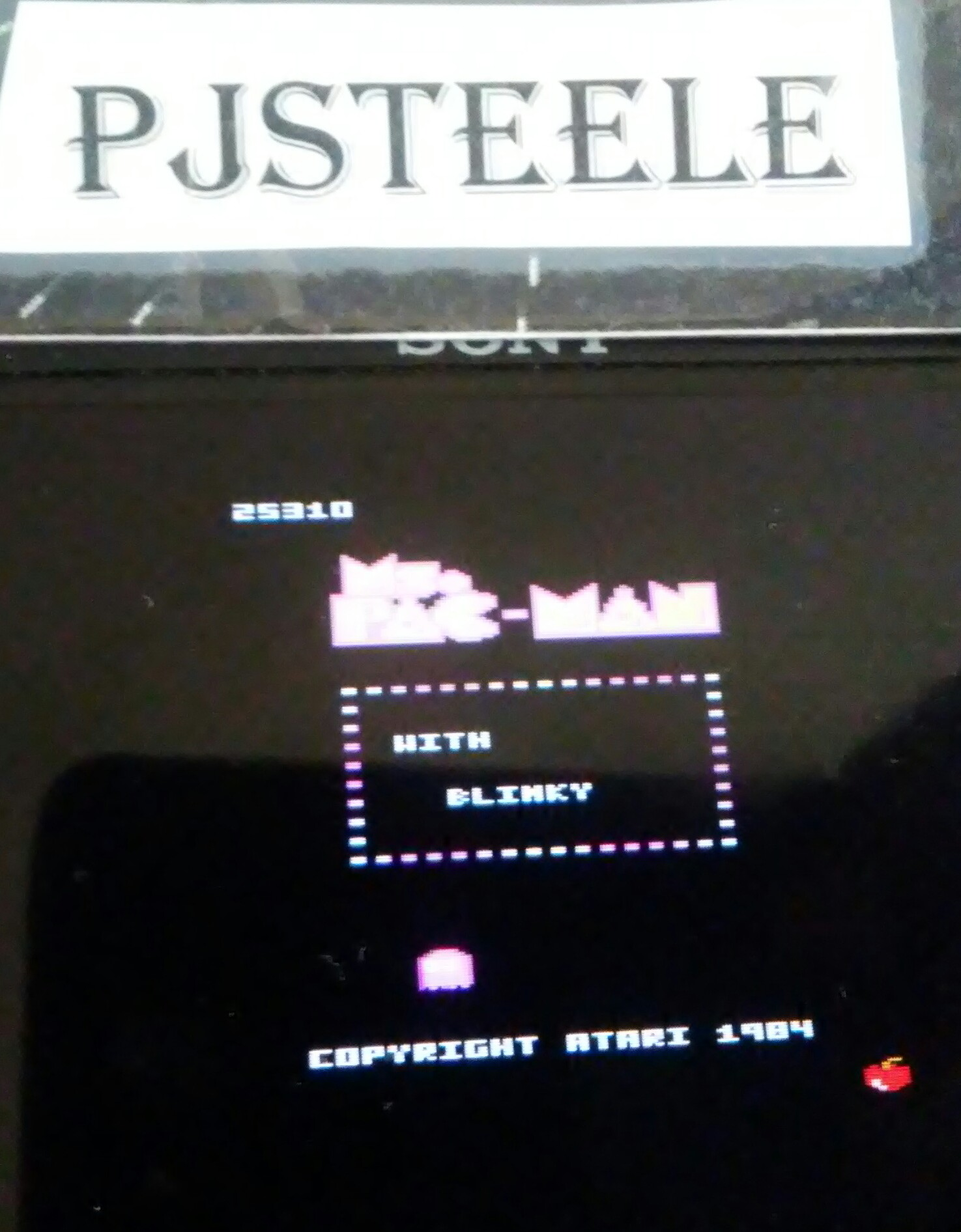 Pjsteele: Ms. Pac-Man: Apple Start (Atari 7800 Emulated) 25,310 points on 2018-06-21 18:18:53
