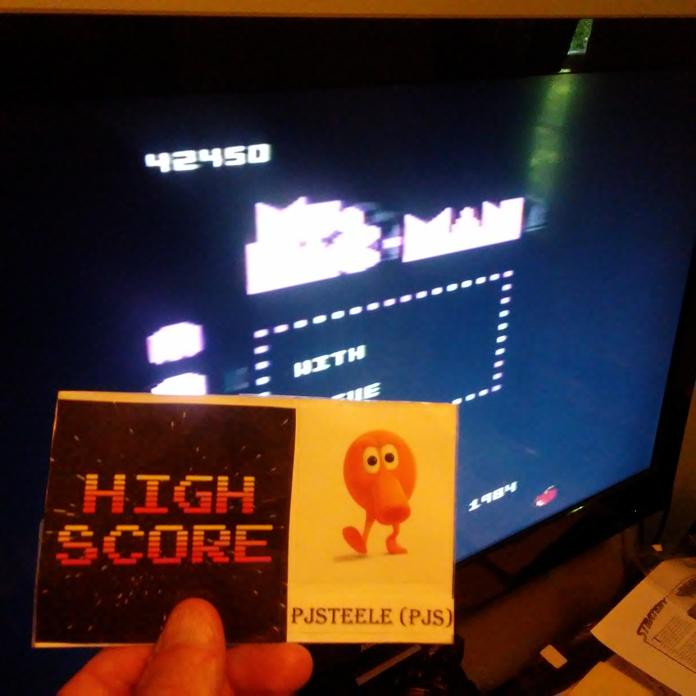 Pjsteele: Ms. Pac-Man: Apple Start (Atari 7800) 42,450 points on 2018-07-04 12:32:52