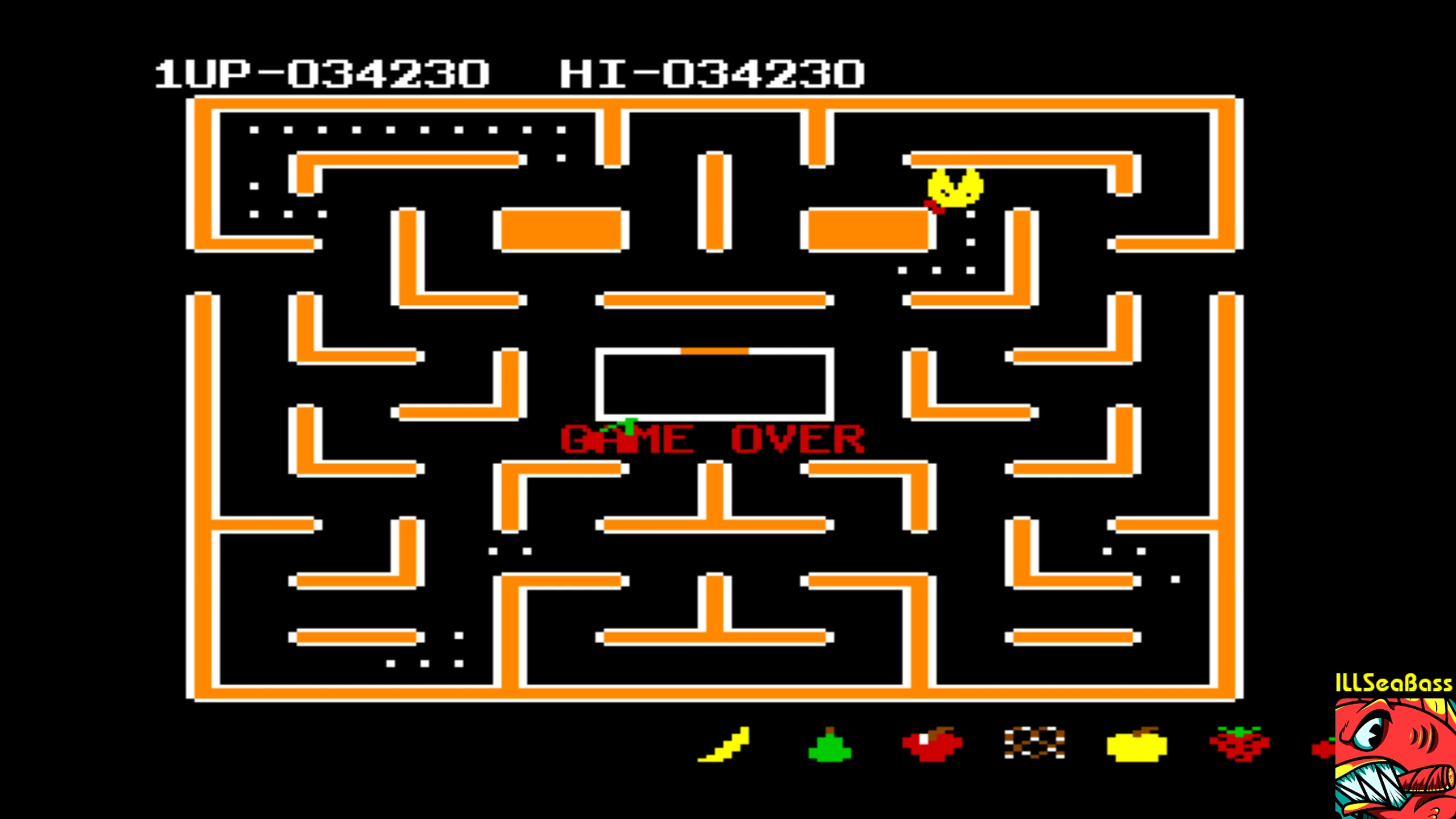 ILLSeaBass: Ms. Pac-Man [Apple Start] (Commodore 64 Emulated) 34,230 points on 2018-02-24 10:59:11