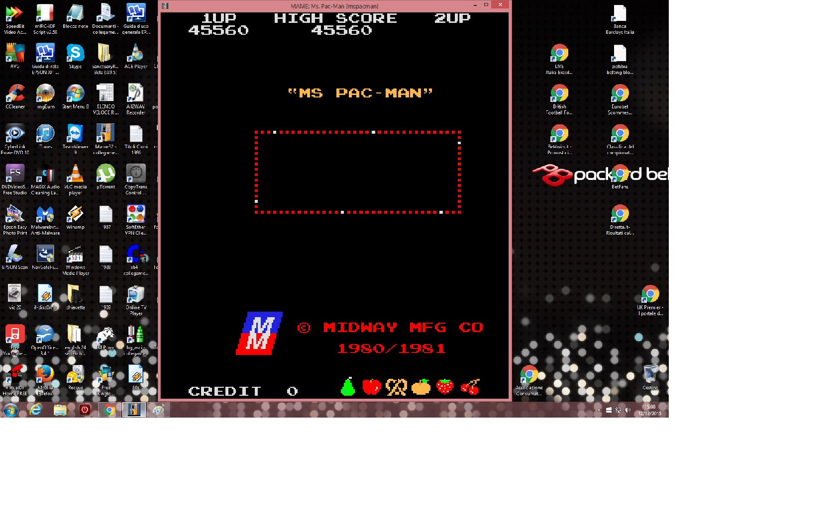 Ms. Pac-Man 45,560 points