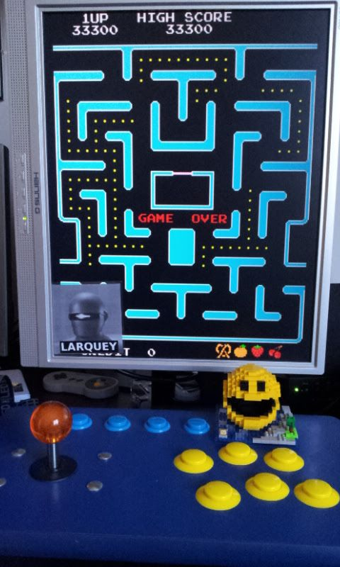 Larquey: Ms. Pac-Man (Arcade Emulated / M.A.M.E.) 33,300 points on 2017-02-25 06:16:35