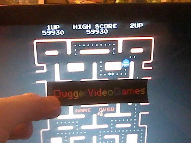 DuggerVideoGames: Ms. Pac-Man (Arcade Emulated / M.A.M.E.) 59,930 points on 2017-08-04 03:13:19