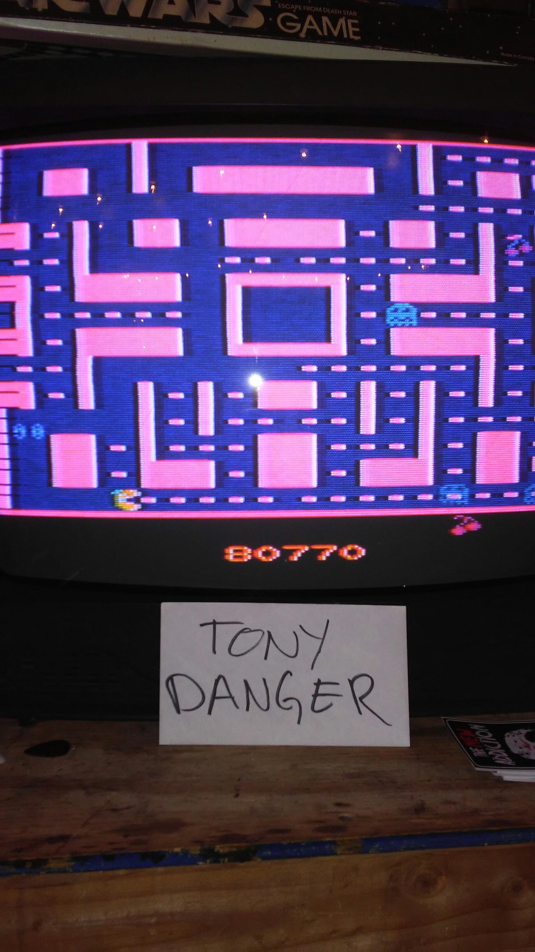 TonyDanger: Ms. Pac-Man (Atari 2600) 80,770 points on 2016-12-31 19:26:00