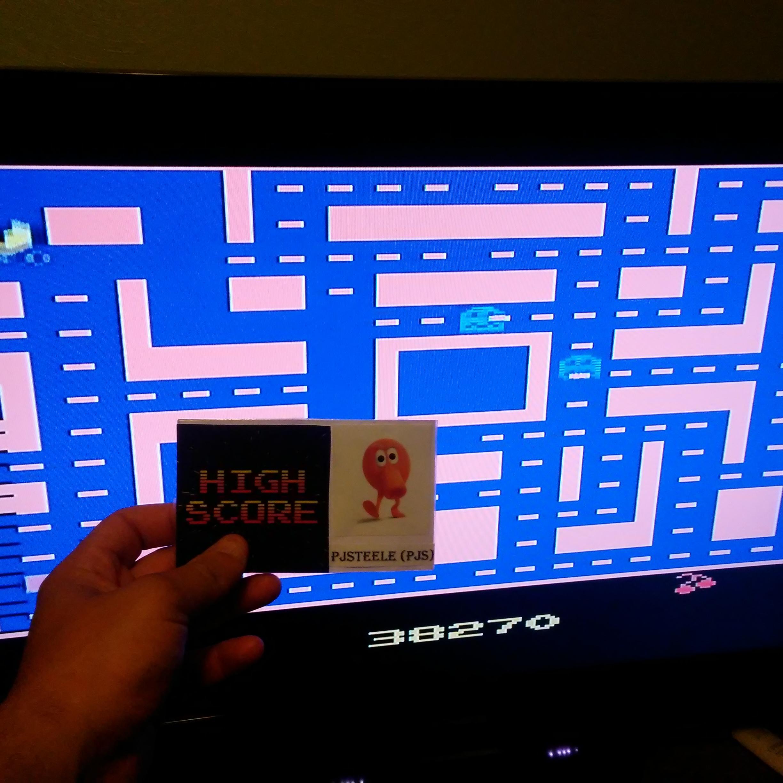 Pjsteele: Ms. Pac-Man (Atari 2600 Emulated) 38,270 points on 2017-07-22 22:28:51