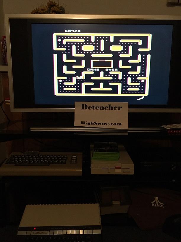 Deteacher: Ms. Pac-Man (Atari 400/800/XL/XE) 68,920 points on 2016-04-27 21:21:06