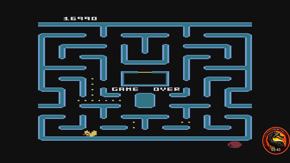 omargeddon: Ms. Pac-Man (Atari 400/800/XL/XE Emulated) 16,990 points on 2019-12-30 14:23:51