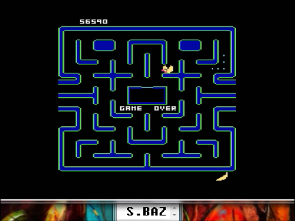 S.BAZ: Ms. Pac-Man [Banana Start] (Atari 5200 Emulated) 56,590 points on 2016-05-30 17:38:49