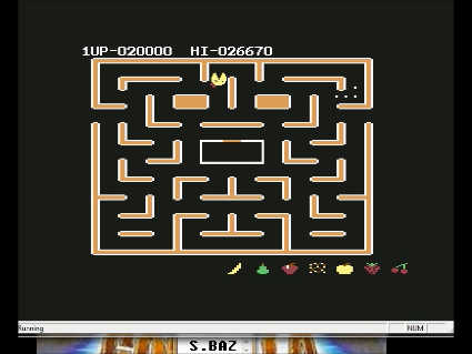 S.BAZ: Ms. Pac-Man [Banana Start] (Commodore 64 Emulated) 20,000 points on 2016-05-30 00:30:11