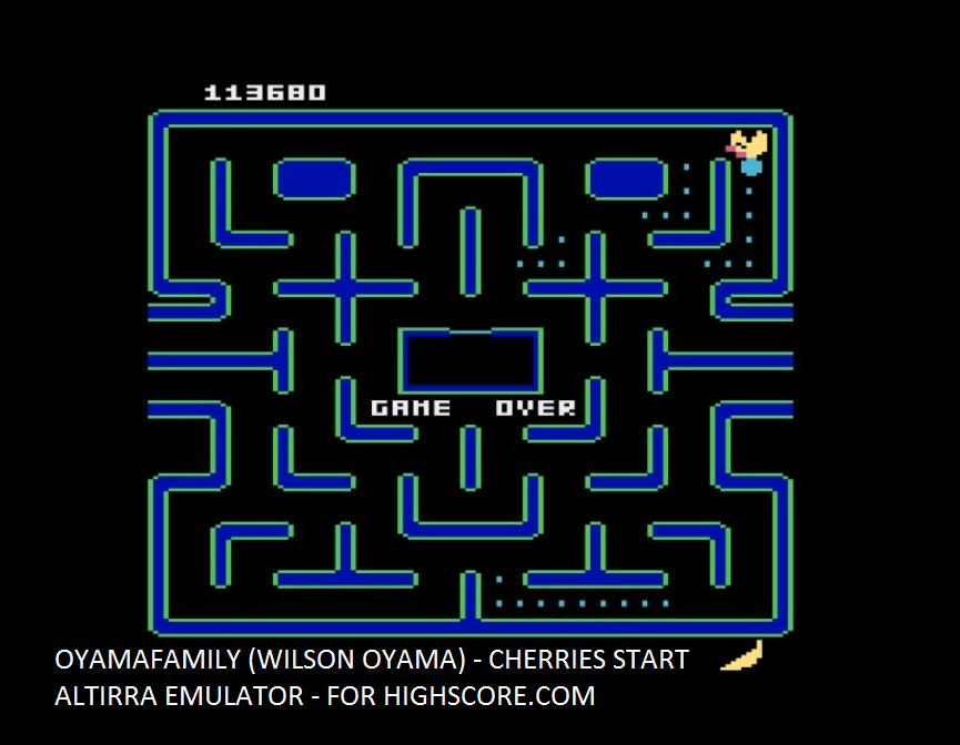 oyamafamily: Ms. Pac-Man: Cherries Start (Atari 5200 Emulated) 113,680 points on 2016-03-07 19:16:32
