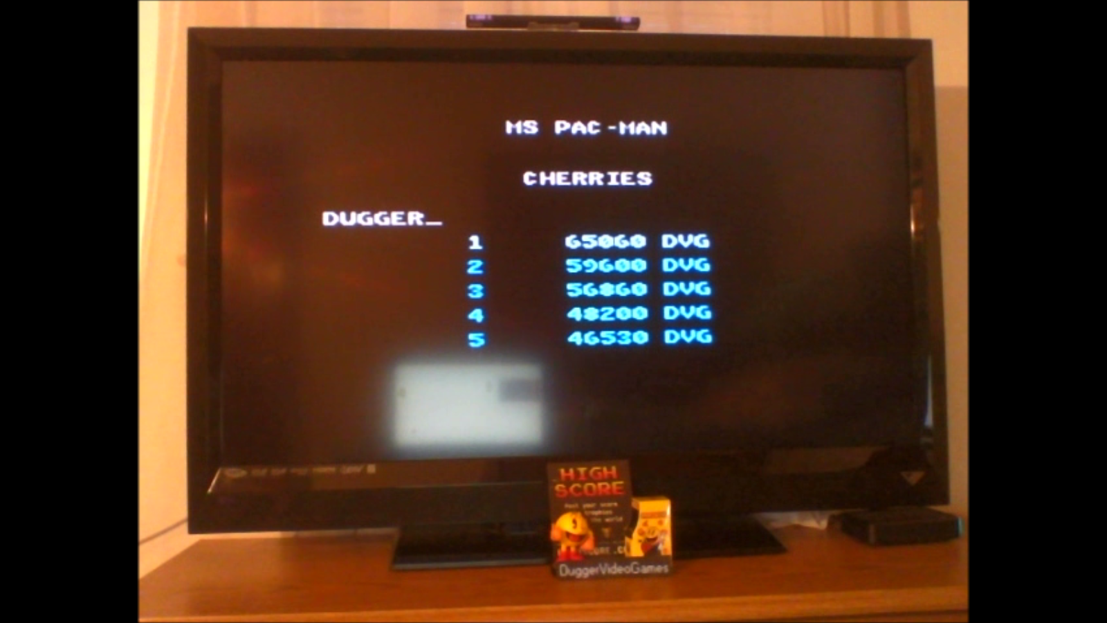 DuggerVideoGames: Ms. Pac-Man: Cherries Start (Atari 7800 Emulated) 65,060 points on 2016-12-21 15:59:34