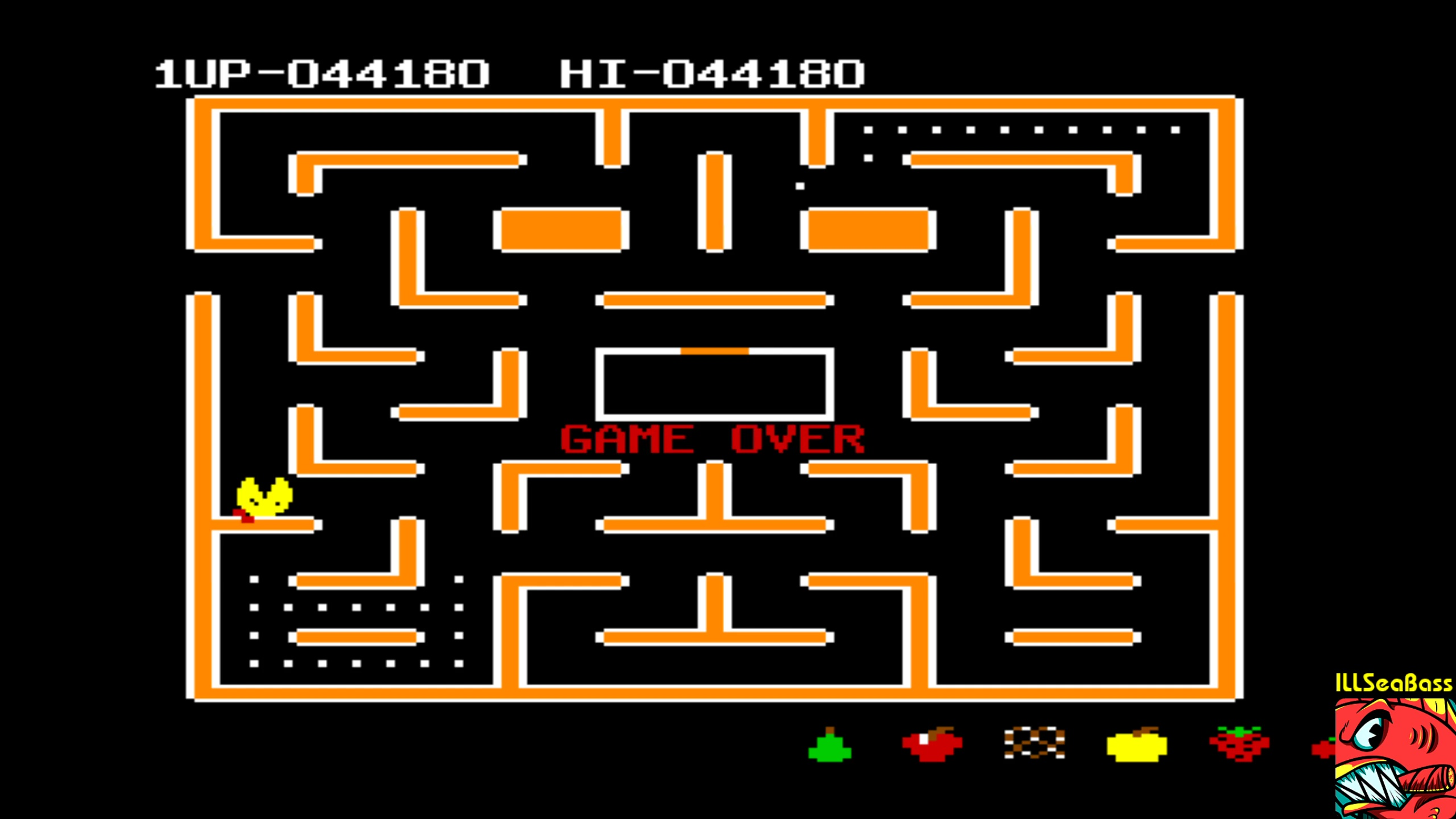 ILLSeaBass: Ms. Pac-Man (Commodore 64 Emulated) 44,180 points on 2018-02-24 10:46:59