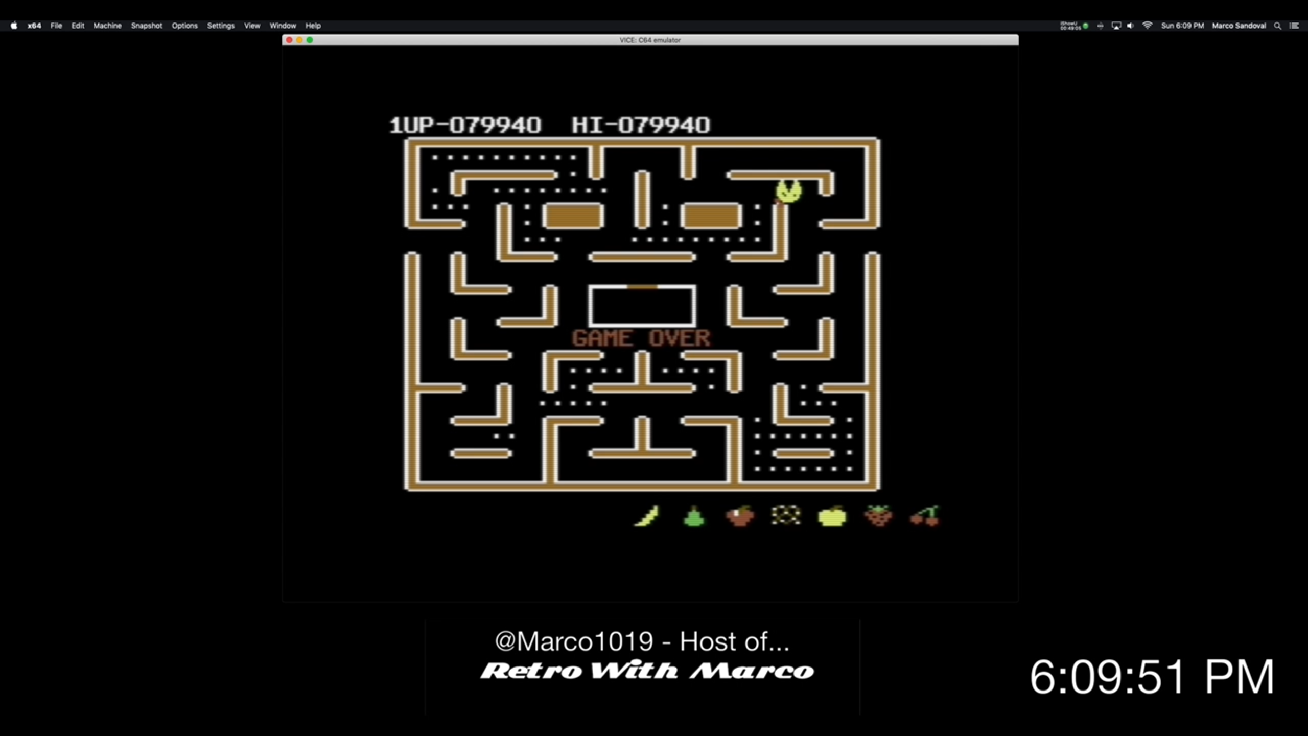 Marco1019: Ms. Pac-Man (Commodore 64 Emulated) 79,940 points on 2019-04-28 21:48:39
