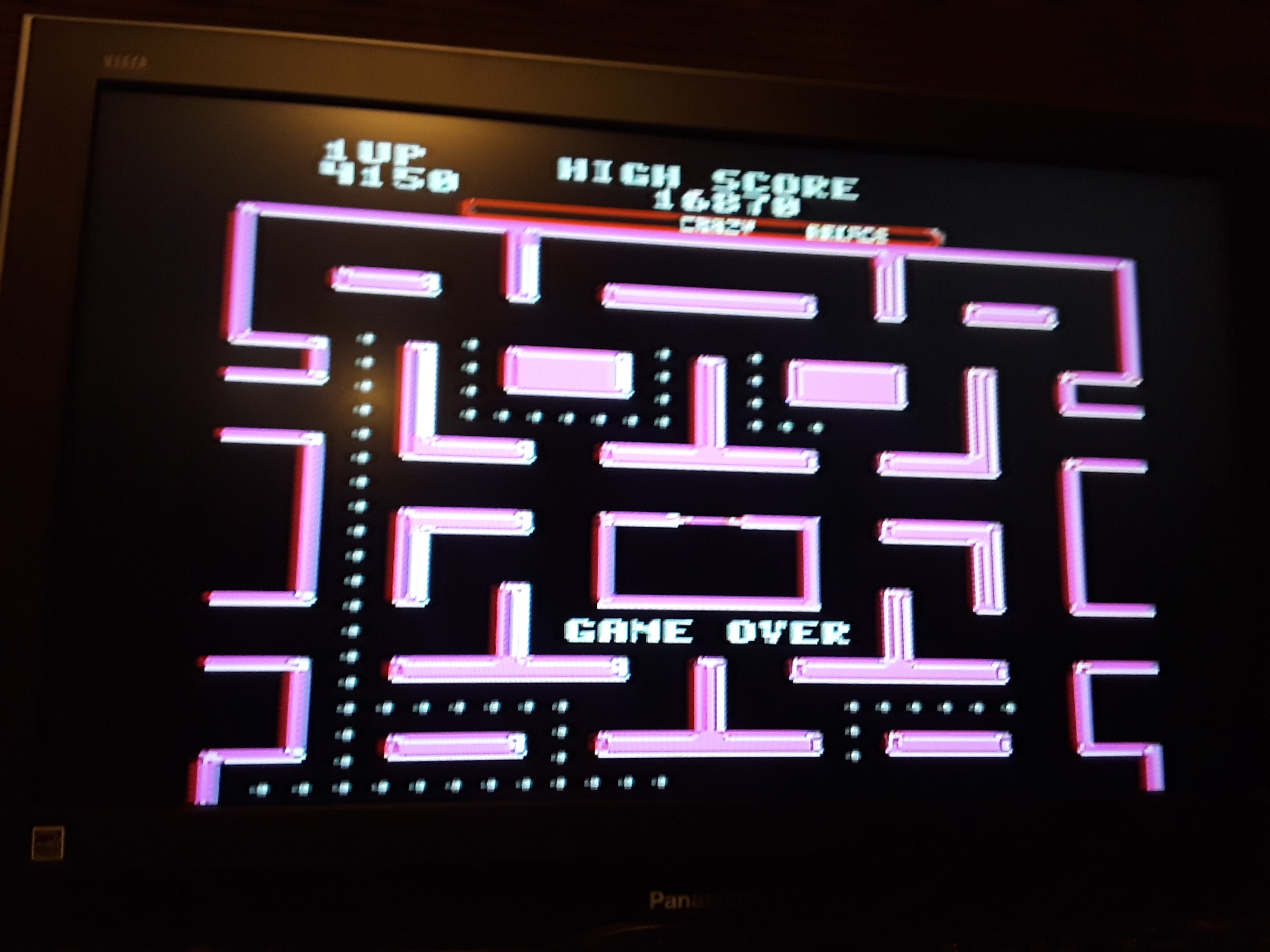 Ms. Pac-Man [Crazy] 4,150 points