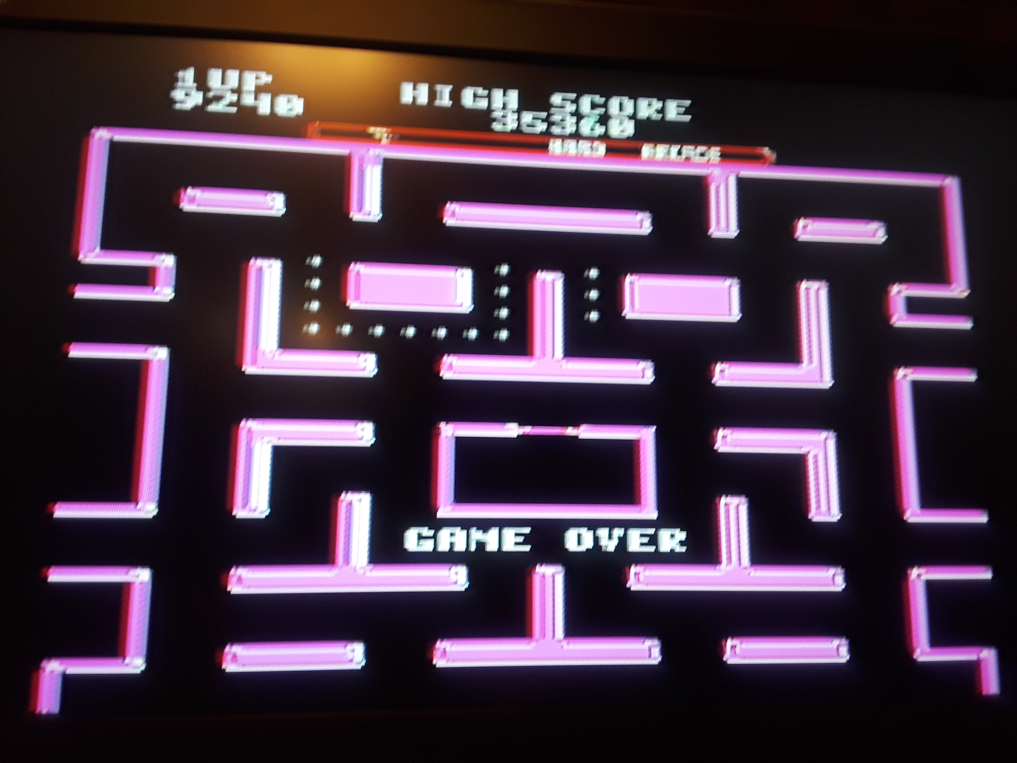 Ms. Pac-Man [On / Hard / Arcade] 9,240 points