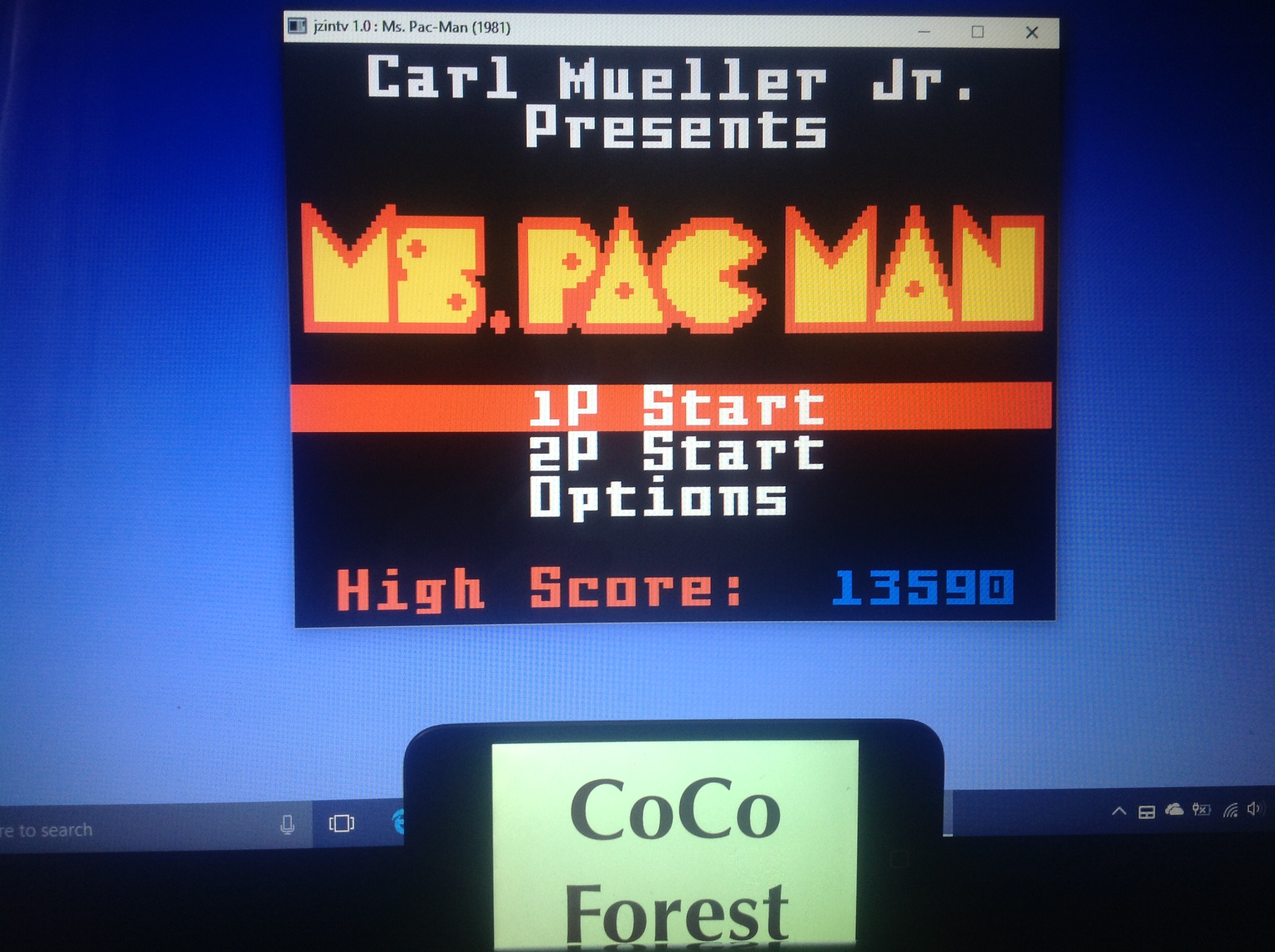 CoCoForest: Ms. Pac-Man (Intellivision Emulated) 13,590 points on 2018-01-24 03:31:32