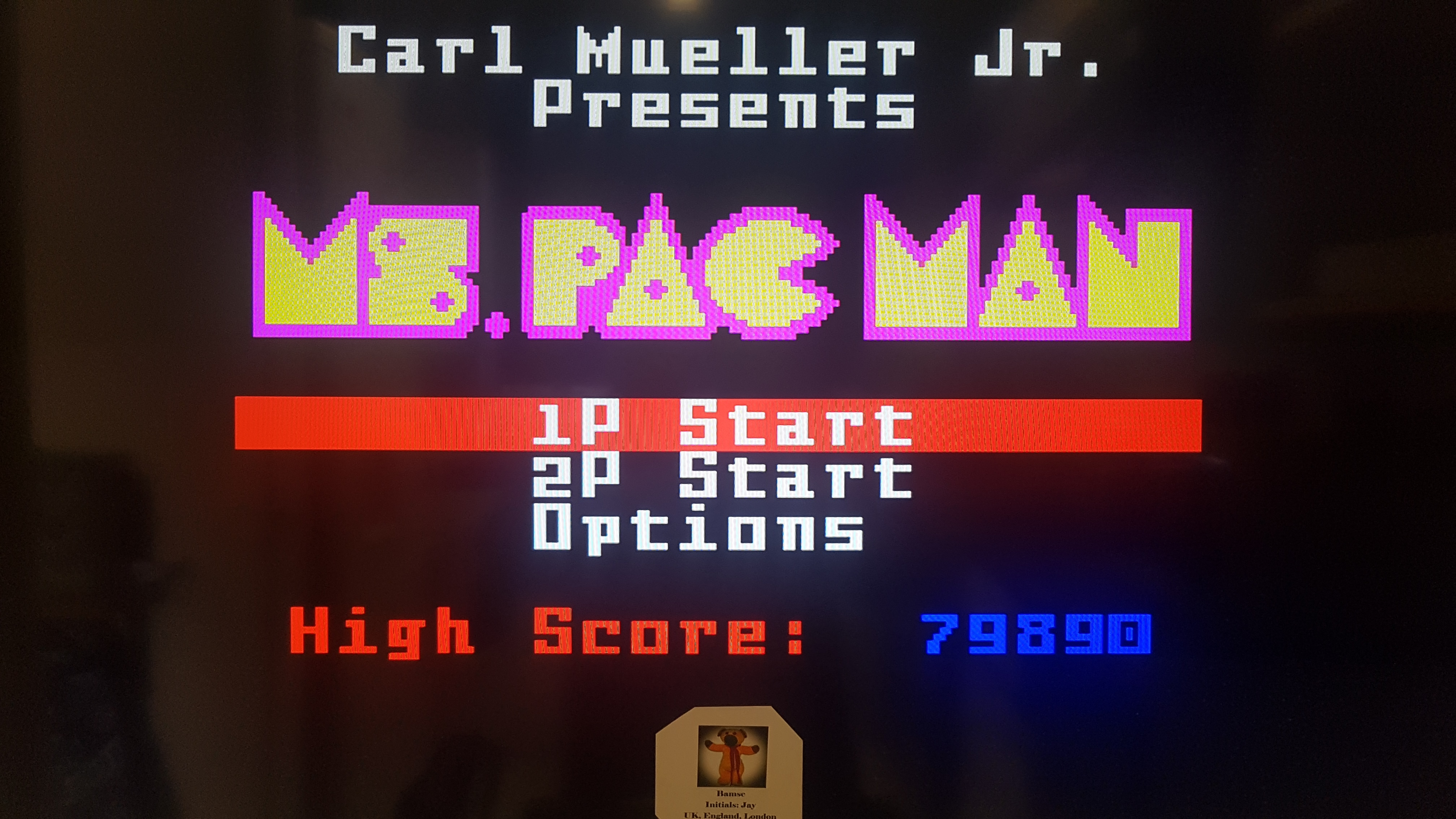 Ms. Pac-Man 79,890 points