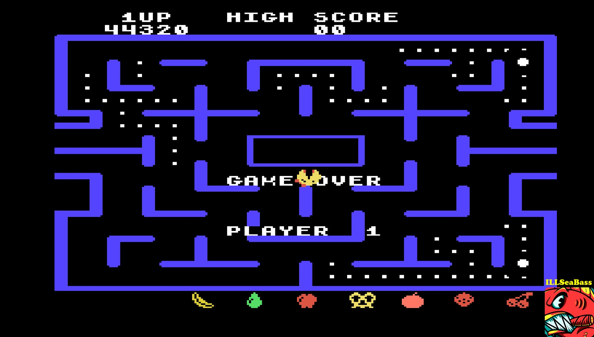 ILLSeaBass: Ms. Pac-Man [Level 4] (TI 99/4A Emulated) 44,320 points on 2017-05-14 01:46:20