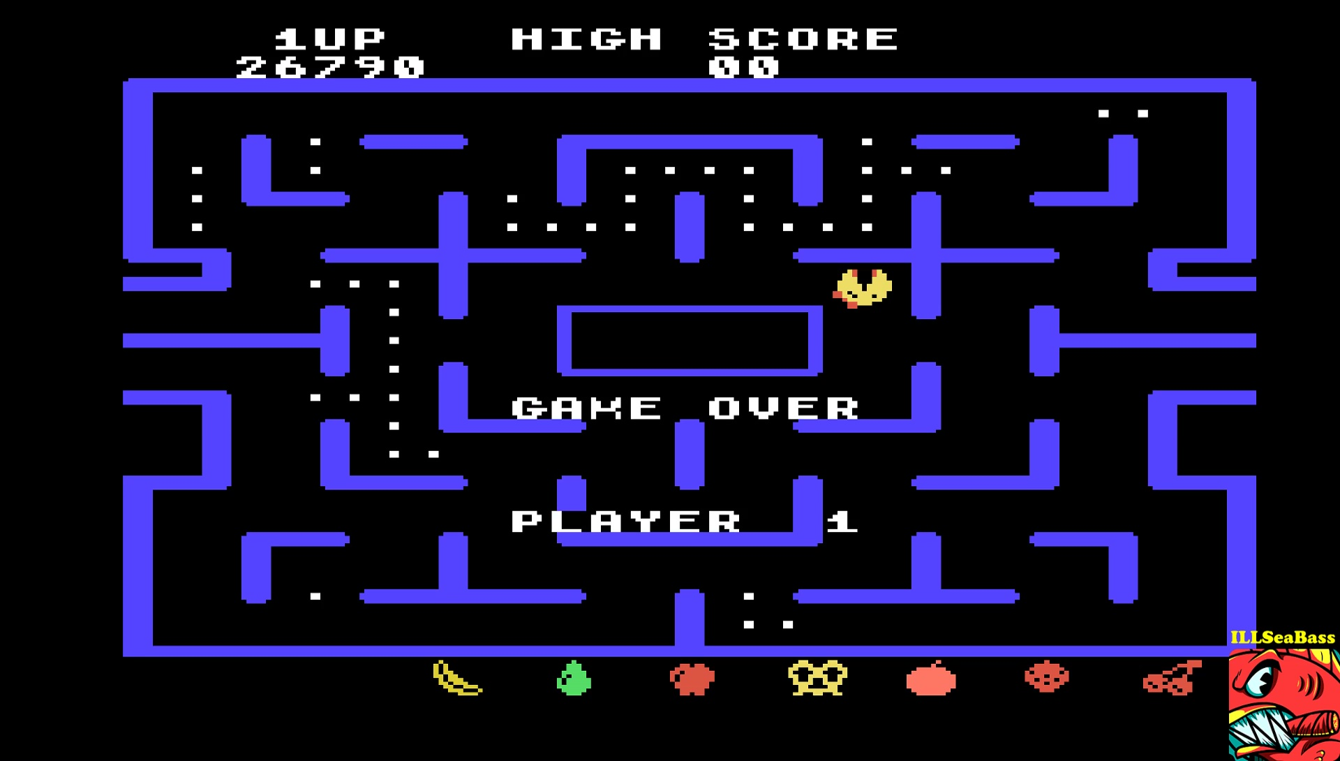 ILLSeaBass: Ms. Pac-Man [Level 7] (TI 99/4A Emulated) 26,790 points on 2017-05-08 09:40:36