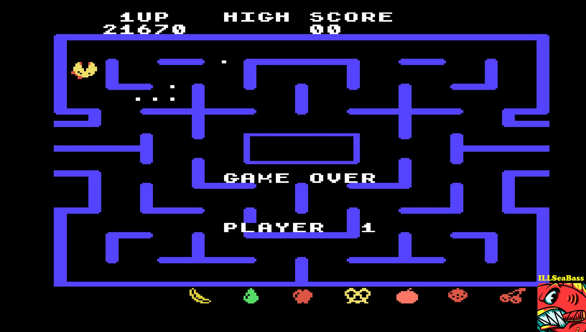 ILLSeaBass: Ms. Pac-Man [Level 8] (TI 99/4A Emulated) 21,670 points on 2017-05-07 17:01:17